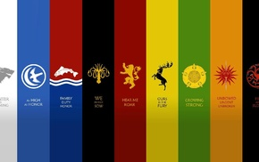 House Tully, House Greyjoy, House Baratheon, House Tyrell, House Martell, Game of Thrones