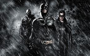 Selina Kyle, MessenjahMatt, Batman, Catwoman, monochrome, rain