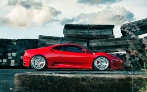 wheels, ф430, автомобили, ferrari, красный, red