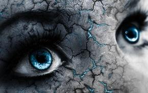 глаза, синий, произведение искусства