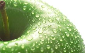 вкусно, зеленое, макро, Яблоко
