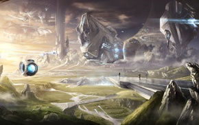 Halo, Xbox One, 343 Industries, Halo Master Chief Collection, fantasy art, Master Chief