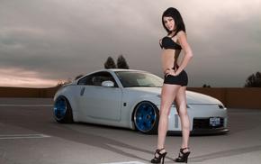 cars, girl