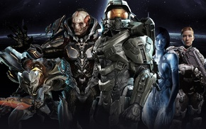 Halo, Master Chief, Halo 4, Didact, video games, Halo Master Chief Collection
