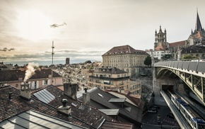 cityscape, city, Switzerland, lausanne