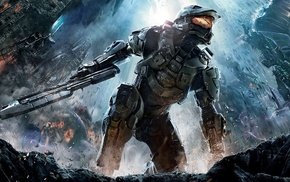 video games, fantasy art, Halo 4, Halo, Master Chief, Xbox 360
