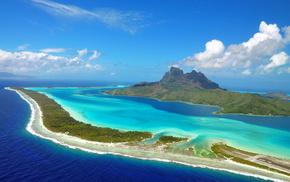 Остров Бора-Бора, остров, океан, красота, красивые