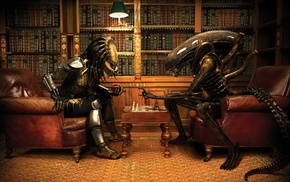 Alien vs. Predator, Predator movie, Aliens movie, wine, chess, anime