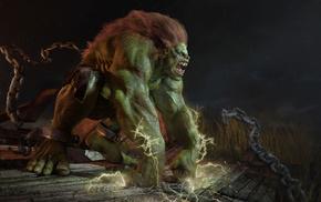 abraao segundo, зелёный, чудовище, монстр, фэнтези