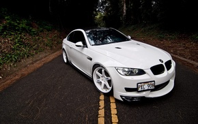 white, m3, coupe, BMW, automobile