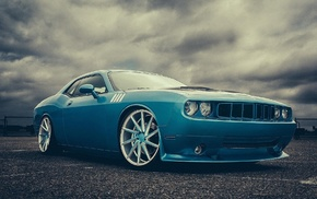 cloudy, cars, Dodge, clouds, tuning