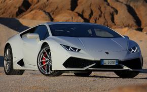 white, Lamborghini, cars, auto