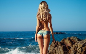 rocks, theme, sexy, beach, ass