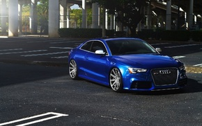 blue cars, Audi RS6, RS6, Audi