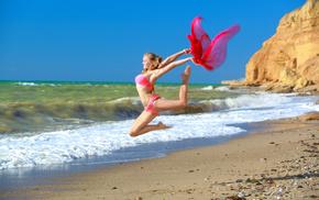 спорт, alessandra a, художественная гимнастика, bikini, sea