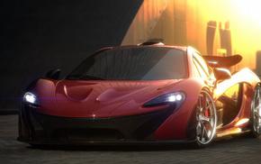 render, cars, McLaren P1