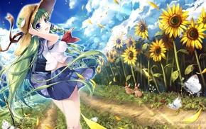 Touhou, anime girls, Kochiya Sanae, anime