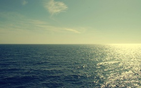 sea, nature, filter