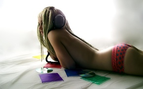women, headphones, girls, music