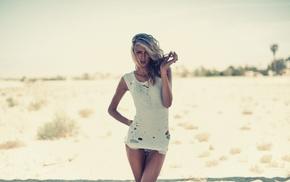 блондинка, девушки на открытом воздухе, девушка, фильтр, волнистые волосы