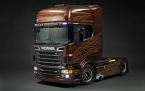 автомобили, скания, р730, scania r730 black amber, тягач, scania trucks