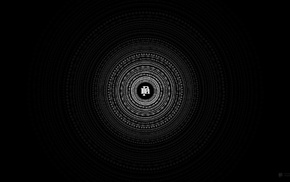 черный, минимализм, круг