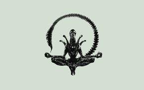 Alien movie, minimalism, skull, Xenomorph