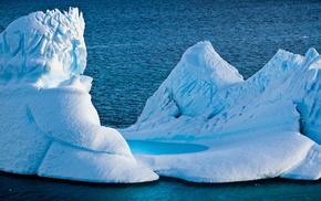 айсберг, природа, Антарктида, красота