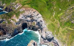 rocks, ocean, nature