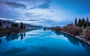 reflection, nature, lake, landscape