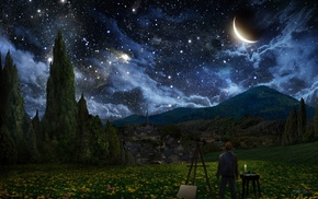starry night, Vincent van Gogh, The Starry Night