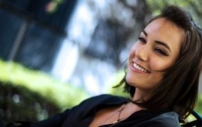 Sasha Grey, smiling, brunette, girl, pornstar