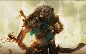Ajani Goldmane, Magic The Gathering, lion