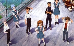 Neon Genesis Evangelion, Ayanami Rei, Ikari Shinji, Asuka Langley Soryu