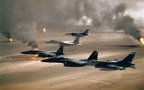 Desert Storm, weapon, desert, General Dynamics F, 16 Fighting Falcon, McDonnell Douglas F