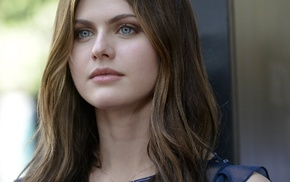 blue eyes, eyes, Alexandra Daddario, girl, brunette