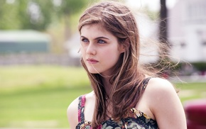 blue eyes, Alexandra Daddario, eyes, brunette, girl