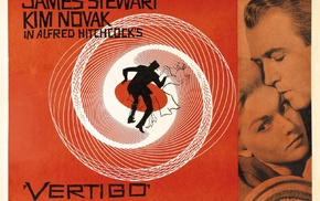 Alfred Hitchcock, Vertigo, James Stewart, Film posters, Kim Novak