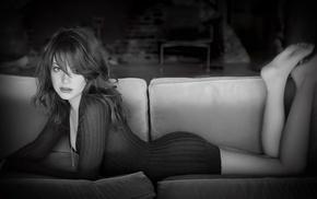 модель, глаза, ножки, девушка, Эмма Стоун