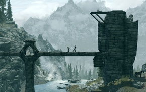 the elder scrolls v skyrim, мост, игры