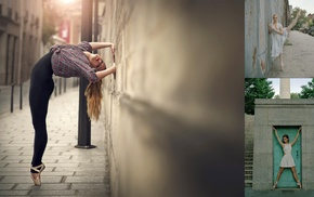 stretching, ballerina, urban