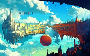 artwork, Digital 2D, Duelyst, digital art, floating island, Anton Fadeev