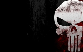 skull, red, black