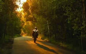 Wheelie, nature, sunset