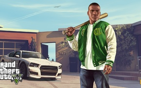 Franklin Clinton, Grand Theft Auto, Grand Theft Auto V, video games