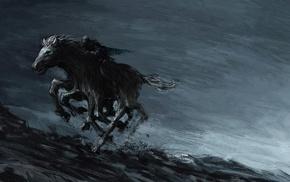 Odin, fantasy art, Sleipnir