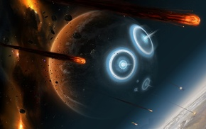 space, meteors, Earth