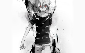 To Aru Kagaku no Railgun, anime, Accelerator, red eyes