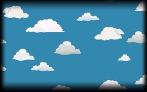 minimalism, clouds