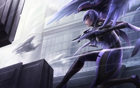 video game characters, Quinn and Valor, DeviantArt, birds, League of Legends